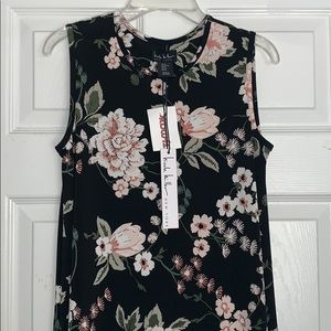Womens mid-length floral dress